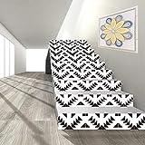 YFXGSTLI Moderne Mode Treppen Aufkleber 6 Stück Treppenstufen Dekor Geometrische Muster Aufkleber Einfache Hauptdekoration Poster 100X18 cm