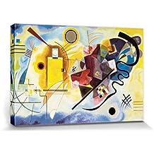 Vassili Kandinsky - Amarillo Rojo Azul, 1925 Cuadro, Lienzo Montado Sobre Bastidor (120 x 80cm)