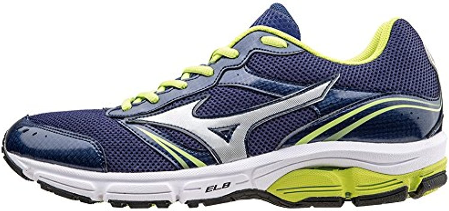 Mizuno Running Shoes Men Officially 2015/2016 Wave Impetus 3 J1GE151302 Blue Silver Green 42.5