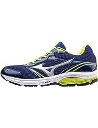 Mizuno Running Shoes Men Officially 2015/2016 Wave Impetus 3 J1GE151302 Blue Silver Green 42.5