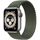 Braided Solo Loop Band Size 38/40 mm Small - Wrist Size 120-160 mm Stretchable Woven Fabric Elastic Strap For Apple Watch Ser