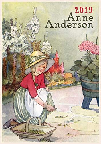 Pixiluv calendario da parete 2019[12pagine 20,3x 27,9cm] giardinaggio bambini di anne anderson vintage book illustration
