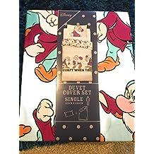 Primark Disney Grumpy 7 Dwarves - Juego de Funda de edredón para Cama Individual