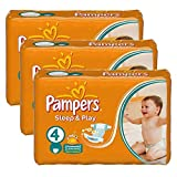Couches Pampers - Taille 4 sleep & play - 100 couches bébé