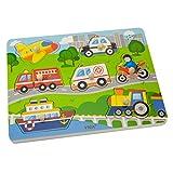 Viga Toys - Sound- und Steckpuzzle - Fahrzeuge