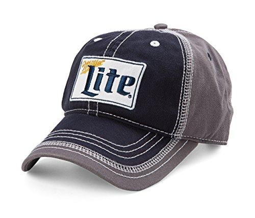 miller-lite-ebroidered-logo-curved-bill-adjustable-baseball-cap