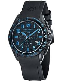 Swiss Eagle SE-9061-06 - Reloj , correa de silicona, color negro