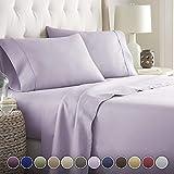 Noble Comfort Linen Lot de 4 draps en Lin Doux et luxirieux 100% Coton égyptien 20...