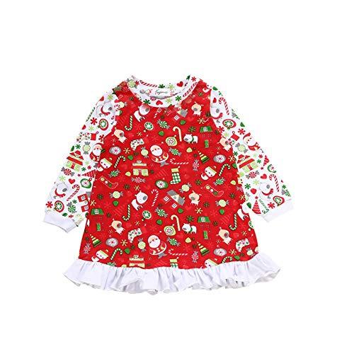 Gyratedream Baby Mädchen Kleider Christmas Langarm Prinzessin Kleid Xmas Kleid Kinder Fancy Kostüm Outfit Rüschen Tutu Kleid 0-24 Monate Party - 12 18 Monat Fancy Dress Kostüm
