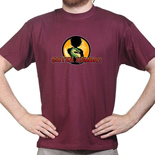 SaiyanKombatDragonsballT-shirtMaroon M - Dragon Ball Kostüm Xenoverse