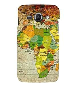 HiFi Designer Phone Back Case Cover Samsung Galaxy Ace 3 :: Samsung Galaxy Ace 3 S7272 Duos :: Samsung Galaxy Ace 3 3G S7270 :: Samsung Galaxy Ace 3 Lte S7275 ( World Map Africa )