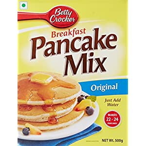 Betty Crocker Pancake Mix | Instant Breakfast Mix | Waffles and Pancake Mix Powder | Original Flavour | Eggless | 500g