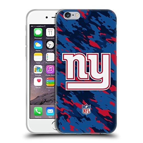 Offizielle NFL Camou New York Giants Logo Soft Gel Hülle für Apple iPhone 6 / 6s Camou