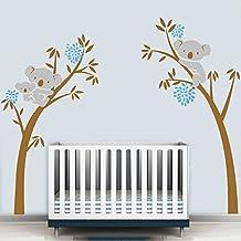 BDECOLL Vinilo decorativo infantil - Mom-Dad-Bebe bear / plata / beige (245 x 230 cm)