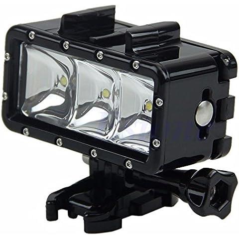 Boblov Diving Luci LED impermeabile 30 M per GoPro Hero3 4 5 SJCAM SJ4000 Xiaomi yi Action Cam (S30)