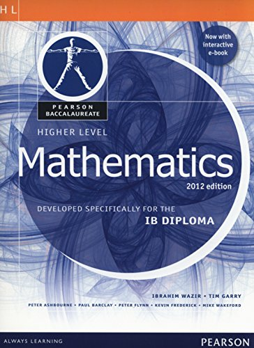 Pearson Baccalaureate Higher Level Mathematics Bundle for the IB Diploma (Pearson International Baccalaureate Diploma: International Editions)