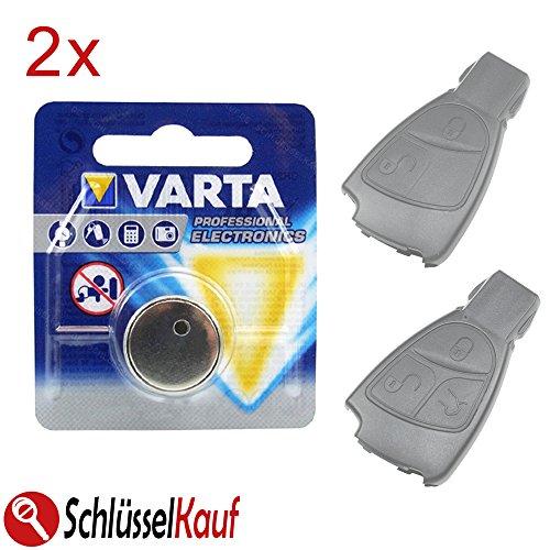 2X VARTA Autoschlüssel Batterie Blister Knopfzelle passend für Mercedes Benz W168 W169 W202 W203 W208 W245