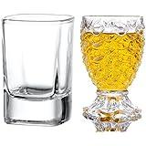 King International 100% Crystal 1 Straight Shot Glass & 1 Pineapple Shot Glass Set Of 2 30 Ml