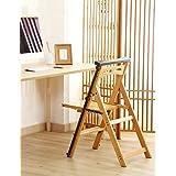 wufeng multifuncin escalera de silla nrdico creativo plegable multicapa de madera maciza silla escaleras taburete