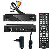 Edision progressiv hybrid lite DVB-C/T Kabel Receiver für digitales Kabelfernsehen inkl. Cinch Kabel Adapter