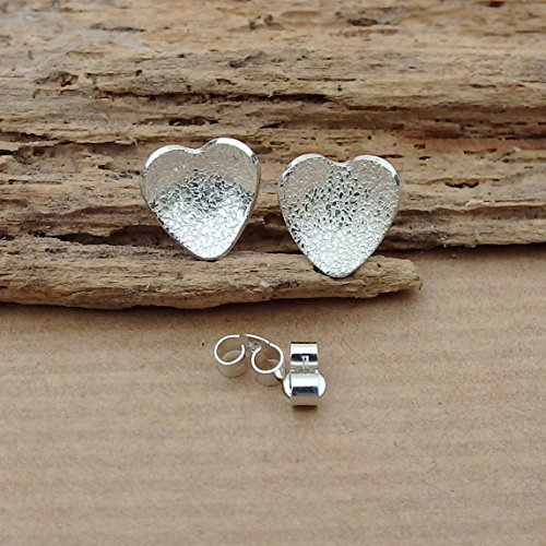 sterling-silver-stud-heart-earrings-textured-free-uk-delivery-gift-wrapped-post-earings-for-her-hand