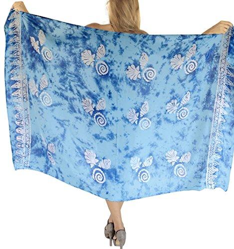 LA LEELA Bademode Badeanzug verschleiern Wickelbadebekleidung Frauen Sarong Pool Abnutzung Badeanzug Zeitkleidung türkis