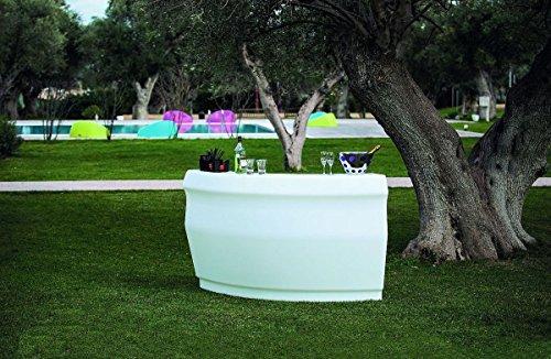 Modum Outdoor Cocktailbar LED beleuchtetes Bar-Set Pemba in Italienischem Design für...