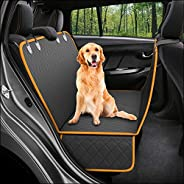 Dog Back-Seat Cover Protector Waterproof Scratchproof Nonslip Hammock for Dogs Backseat Protection Against Dir