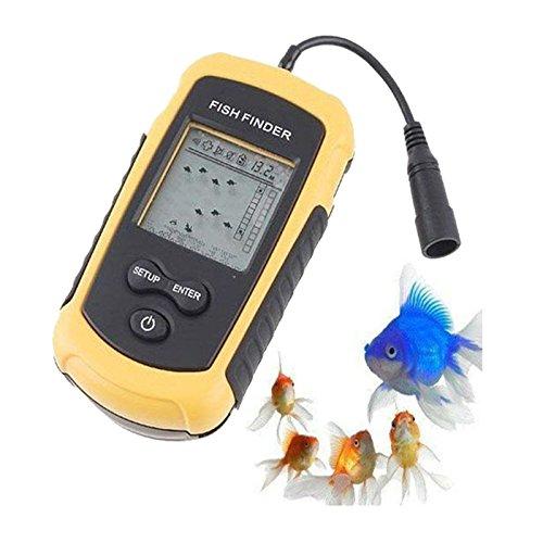 A31 100m Tragbar Echolot Sonar Sensor LCD Alarm Fischfinder Fischortungsgerät