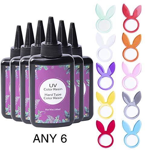 Joligel-farbiges UV-Epoxidharz-Set für Schmuckherstellung, keine Pigmente erforderlich, Einteilig, keine Notwendigkeit zu mischen, 6 * 100 ml, Wählen Sie beliebige 6 Farben