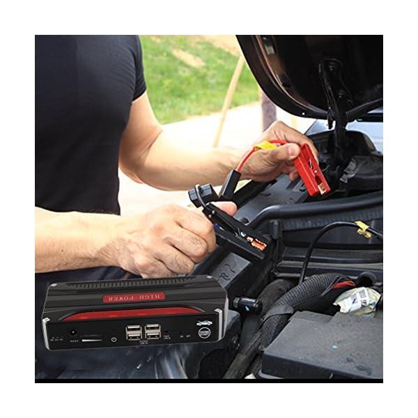 68800mAh portátil Mini Car Jump Starter 12V 4USB Power Bank Batería para Inicio Puerta de emergencia