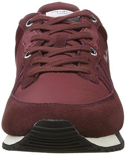 Pepe Jeans London Herren Tinker Bold 17 Sneaker Rot (Bordeaux)