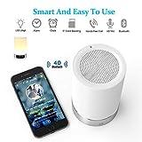 Generic L5 7 Farbe mit Bluetooth Lautsprecher-Alarm-Wecklicht, weiß, 8.8 x 8.8 x 14.1 cm, L5
