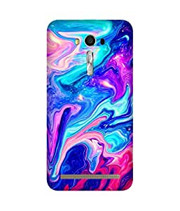 Colourful Marble Printed Back Cover Case For Asus Zenfone 2