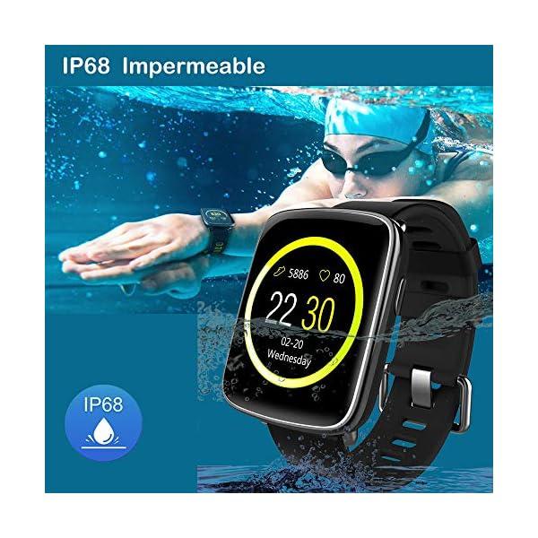 Willful Smartwatch con Pulsómetro,Impermeable IP68 Reloj Inteligente con Cronómetro, Monitor de sueño,Podómetro,Calendario,Control Remoto de música,Pulsera Actividad para Android y iOS 4