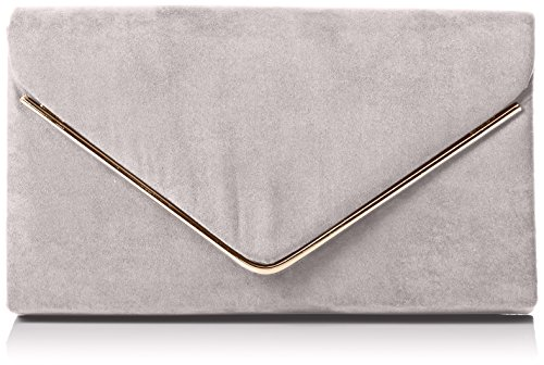 Swankyswans Damen Oscar Envelope Suede Velvet Party Prom Clutch Bag Tasche, Grau (Grey 03), One Size (Velvet Clutch Purse)