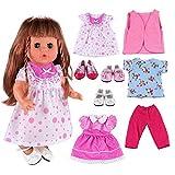 VILLAVIVI 3 Set Kleidung Puppenkleidung Kleider 3 Paar Schuhe für 36-40 cm 18 Inch American Girl Dolls Puppe
