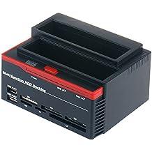 WANLONGXIN WLX-892U2IS USB2.0 a SATA IDE Dual Bahía Externo Estación de Acoplamiento Del Disco Duro Con Lector de Tarjetas y Hub USB 2.0 (NinguÌ n Apoyo el Disco Duro de WD IED)