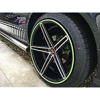 Rimblades Scuffs Alloy Wheel Edge Rim Protector Set of 4 Trim Guard Rubber Moulding Line Lime Green