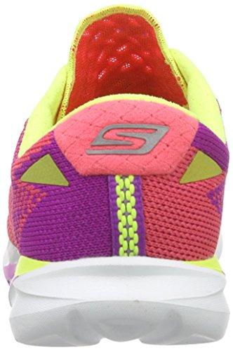 Skechers Go Meb Speed 32016, Baskets Basses femme Rose - Pink (PKLM)