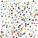 Boao 2000 Pezzi Gemme di Vetro con Strass Rotondo con 6 Dimensioni Miste (1.6-3 mm) per Unghie Arte, Decorazioni del Telefono e Mestieri Fai Da Te (Multi colore)
