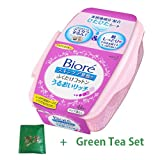 Biore Make Off Cleanging Sheet Uruoi Rich New Version - 1box for 44pcs New Version (Green Tea Set)