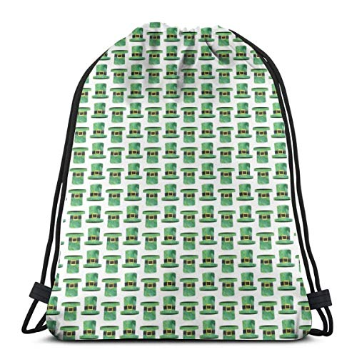 LLALUA Leprechaun Hats - St Patricks Day - Hats_59521 Custom Drawstring Shoulder Bags Gym Bag Travel Backpack Lightweight Gym for Man Women 16.9