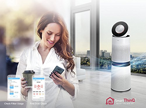 LG PuriCare AS95GDWT0 WiFi Enabled Air Purifier (White)