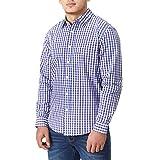 Charles Wilson Originals Kariertes Gingham Langarm Freizeithemd (3X-Large, Purple & Navy)