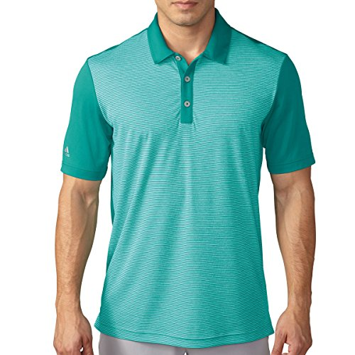 Adidas Herren Climachill Heather Stripe Polo Shirt EQT Green