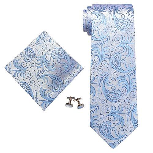 landisun Paisley, Set de Cravates Homme Blue (114 Light Blue)