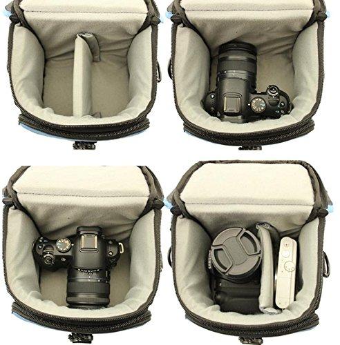 Z&HXborsa a tracolla Fotografia reflex borse fotocamera zaino impermeabile multifunzionale DV , blue Yellow
