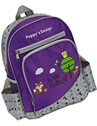 Preisvergleich für Kinderrucksack FOREST 443 Kinder Rucksack mit Brustgurt und Adressfach Farben: rosa , lila oder blau 30 cm