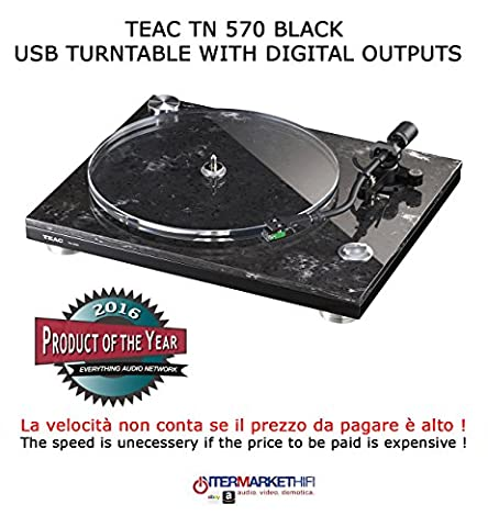 TEAC TN 570 USB Turntable with digital outputs Black